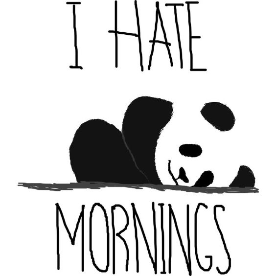 I hate mornings by panda