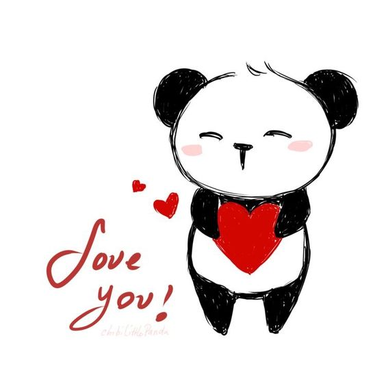 A Love you message from Panda
